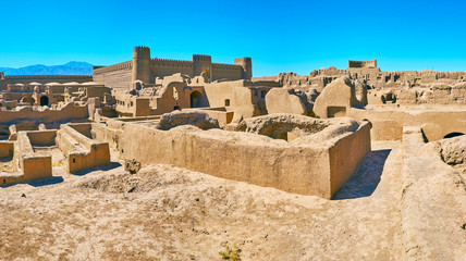 The grounds of Rayen citadel, Iran