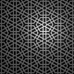 Set of islamic oriental patterns, Seamless arabic geometric ornament collection. Vector traditional muslim background. east culture, indian heritage, arabesque, persian motif 3D Ramadan kareem. Silver