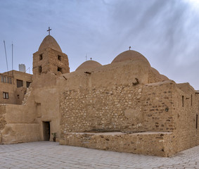 Church of St. Michael, Monastery of Saint Paul the Anchorite, dates to the fifth century AD and located in the Eastern Desert, near the Red Sea mountains, Egypt