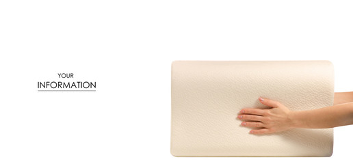 Orthopedic pillow in hands pattern