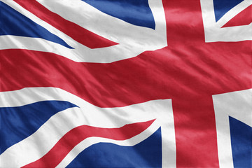 Flag of United Kingdom full frame close-up