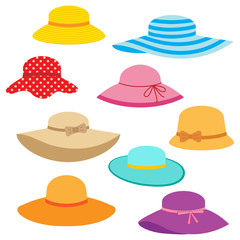 Collection of women's summer hats