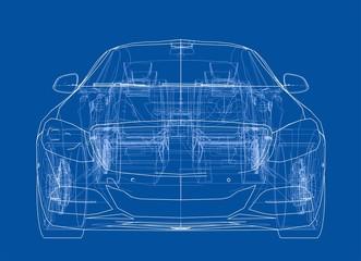 Concept car. 3d illustration