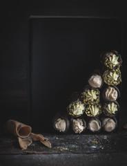 Traditional Italian dessert cannoli