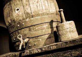 old beer cask