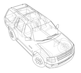 Car SUV drawing outline