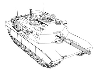 Blueprint of realistic tank