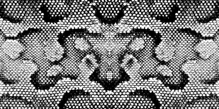 Print snake texture black white