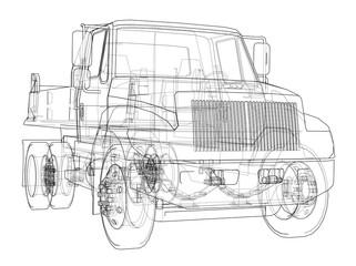 Dump truck. 3d illustration