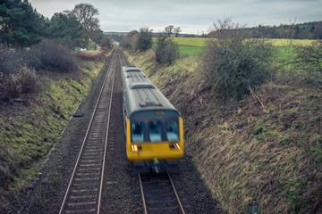 Train on railway line