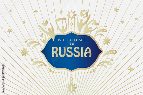 Welcome to russia gold text on abstract dynamic background welcome to russia gold text on abstract dynamic background invitation vector concept sports competition stopboris Image collections