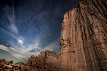 Gothic Nightmare one of imposing spires of Moab's mythical Mystery Towers, Utah, USA