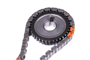 Gear with a chain