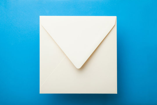 Blank square Envelope Mockup.