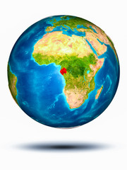 Gabon on Earth with white background
