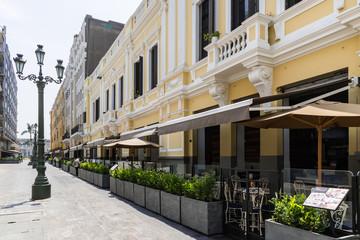 Restaurierte Fassaden der Altstadt von Lima