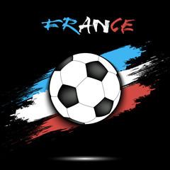Soccer ball and France flag