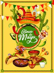 Cinco de Mayo fiesta party food and drink banner