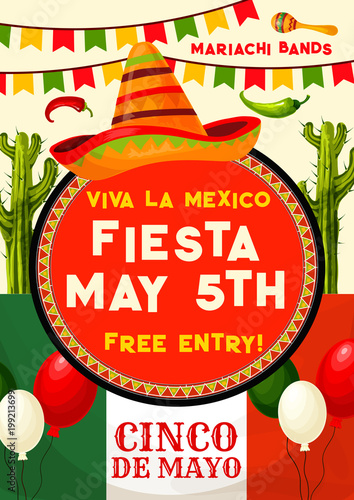 Mexican Party Invitation For Cinco De Mayo Holiday