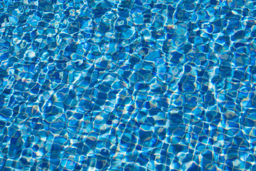 water ripples texture in swimming pool