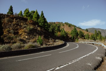 road to Mount Teide National Park