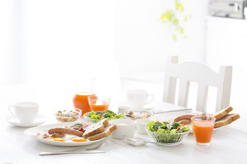 Breakfast at the kitchen