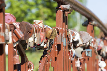 metal padlocks , love