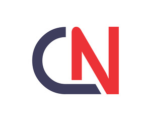 cn initial letter alphabet typography font uppercase image vector icon