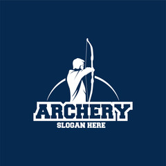 Archer Logo Designs concept, Archery Silhouette Logo designs vector, Archer Sport logo
