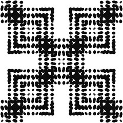 Black and White Seamless Ethnic Pattern