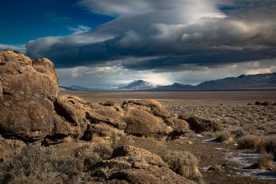 Winnemucca Lake (dry) and Mt Limbo
