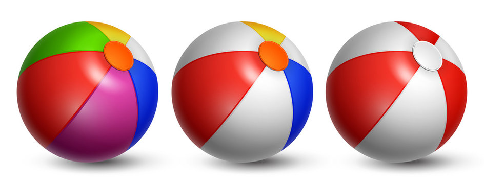 Set Beach Balls. Three balls on white background