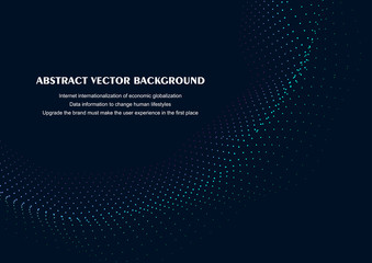 Wave particle abstract vector background illustration