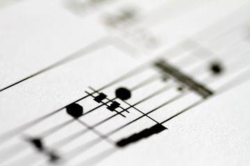 Illustration photo of music notes on sheet music