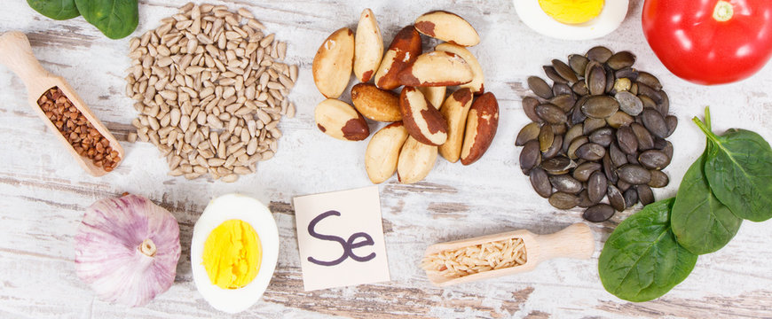 Ingredients or products as source selenium, vitamins, minerals and dietary fiber
