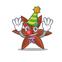 Clown anise mascot cartoon style