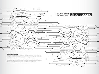 Communication and engineering concept. High-tech technology background texture. Circuit board vector illustration.