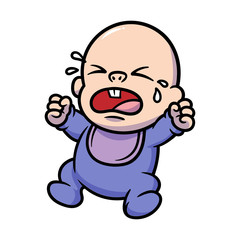 Cartoon Crying Baby