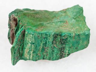 piece of Volkonskoite stone on white