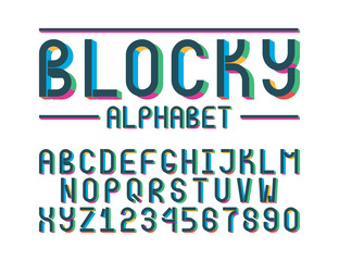 The modern colorful font
