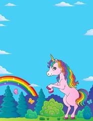 Standing unicorn theme image 2