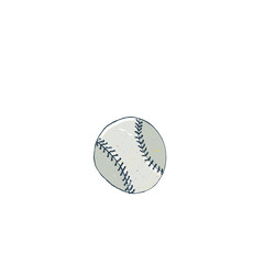 Vector illustration of a baseball ball.   Baseball equipment.
