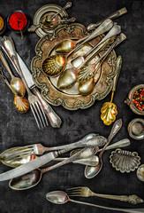 Vintage spoons, forks and knifes