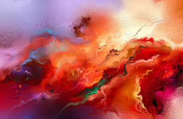 Abstract colorful oil painting on canvas texture.
