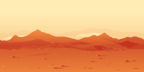 Martian Landscape Background