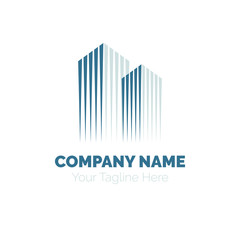 Real Estate Logo design vector template. Building Construction Development Logotype concept icon.