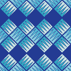 Seamless geometric pattern. The texture of the squares and crowns. Textile rapport.