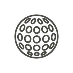 Golf ball icon vector. Line relaxation game symbol.