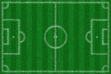 Fussballfeld mit Linien von oben