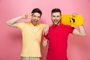 Portrait of a smiling gay male couple